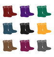 winter felt boots icon in black style isolated on vector image vector image