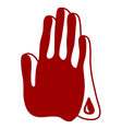 Praying bloody hands vector image