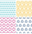 Four abstract geraldic geometric pink seamless vector image