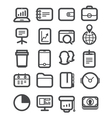 Different business icons set vector image