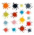 Colorful Splashes Set Isolated on White Background vector image vector image