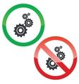 Adjust permission signs set vector image