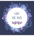 Purple and Blue Wedding Event Invitation Card vector image