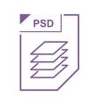 PSD file icon cartoon style vector image