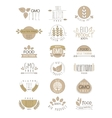 Bio Products Set Of Labels vector image