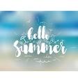 Hello summer text Positive vector image