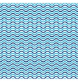 Blue ocean waves marine seamless pattern vector image