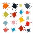 Colorful Splashes Set Isolated on White Background vector image