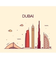 Dubai City skyline Trendy line art vector image
