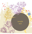 floral advertising leaflet greeting card with vector image
