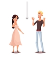 Madly frightened man and woman vector image