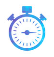 polygon blue icon stopwatch vector image
