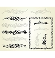 Set ornaments tattoo vector image