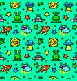 ufo seamless pattern vector image