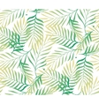 Tropical palm tree leaves background vector image