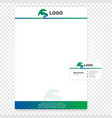 Isolated paper page  Company vector image