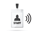 lanyard staff wireless vector image vector image