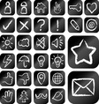 Chalk drawing style icons vector image