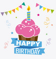 happy birthday invitation vector image vector image