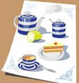 time for tea vector image vector image