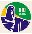Travel sticker Brazil vector image