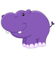 baby hippo vector image vector image