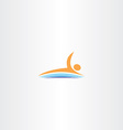 man swim in lake icon logo vector image