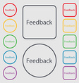 Feedback sign icon Symbols on the Round and square vector image