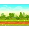 Cute cartoon seamless landscape vector image
