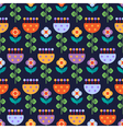 Seamless pattern with multicolored flowers vector image vector image
