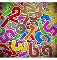 Background with colorful numbers of paper vector image vector image