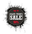 black friday sale isolated on a white vector image