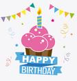 happy birthday invitation vector image