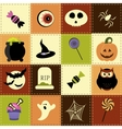 Patchwork background with Halloween elements vector image