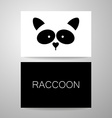 raccoon animal template vector image