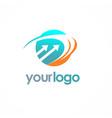 round loop arrow logo vector image