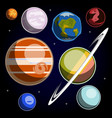 set with solar system planets vector image