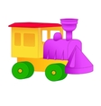 Small toy train from the designer vector image