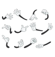 Various hands vector image