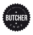 Butcher Shop vintage stamp vector image