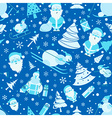 Christmas seamless pattern Colour flat design with vector image