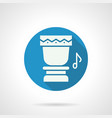 tropical drum rhythm flat round icon vector image