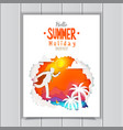 businessman go to summer poster vector image