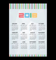 2018 simple business wall calendar abstract paper vector image