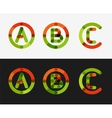 Minimal line design logo set vector image
