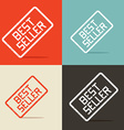 Best Seller Backgrounds vector image vector image