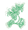fantasy flower butterfly vector image