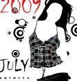 calendar 2009 vector image