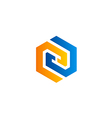 company business shape technology logo vector image