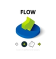 Flow icon in different style vector image